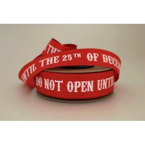 ΚΟΡΔΕΛΑ ΜΑΤΤ BSS ΜΕ ΟΥΓΙΑ ΕΚΤΥΠΩΣΗ ΕΝΑ ΧΡΩΜΑ ΜΙΑ ΟΨΗ DO NOT OPEN... 25ΜΜ RED-WHITE